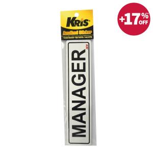 KRIS STIKER ANODIZED 6X20CM - MANAGER