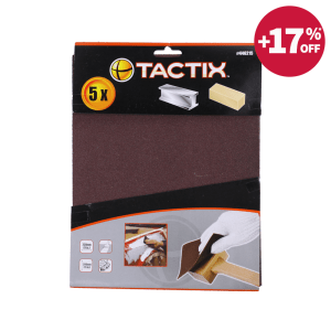 TACTIX SET AMPLAS 80 GRIT 280X230MM 5 PCS