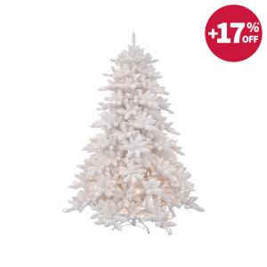 NOELLE POHON NATAL DENGAN LAMPU 225 CM - PUTIH