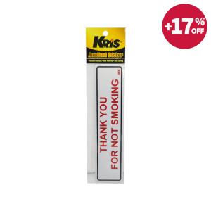 KRIS STIKER ANODIZED 6X20CM - THANK YOU FOR NOT SMOKING