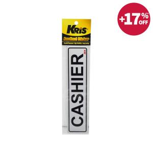 KRIS STIKER ANODIZED 6X20CM - CASHIER