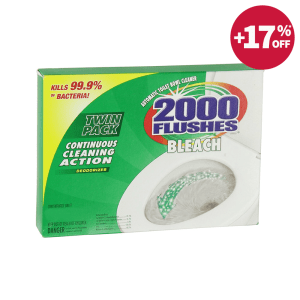 2000 FLUSHES CAIRAN PEMBERSIH TOILET CHLORINE TWIN 35.4 ML