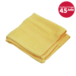 HANDUK WAJAH MICROCOTTON 33X33 CM – LEMON