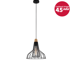 CARSON LAMPU GANTUNG HIAS 30X102 CM - HITAM