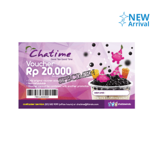 GIFT VOUCHER CHATIME RP. 20.000