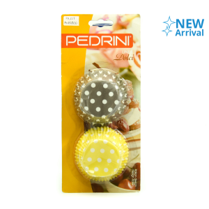 PEDRINI PAPER CUP MINI 5 X 2.7 CM (100) - COKLAT/KUNING