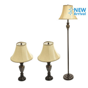 SET LAMPU COMBO MARBLE 3 UNIT - BROWN