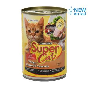 SUPER CAT TUNA CHICKEN & VEGETABLE 400 GR