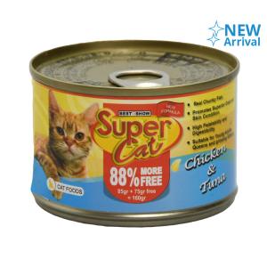 SUPER CAT CHICKEN TUNA 160 GR