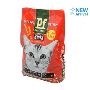PET FOREST CAT FOOD 3 MIX 1.5 KG