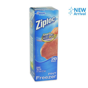ZIPLOCK SET PLASTIK ZIPPER FREEZER 20 PCS