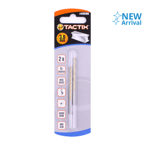 TACTIX SET MATA BOR METAL HSS 3MM 2 PCS