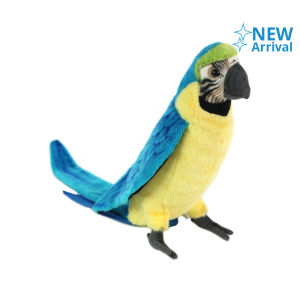 HANSA RAINFOREST MACAW  31 CM - BIRU / GOLD