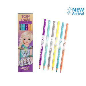 TOP MODEL SET PENSIL WARNA 6 PCS