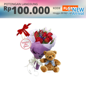 FLOWER ADVISOR BUNGA HAND BOUQUET LOVE BEAR