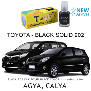 T-UP CAT OLES PENGHILANG GORESAN & BARET (DEEP SCRATCH) TOYOTA - BLACK 202 SOLID