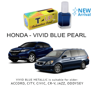 T-UP CAT OLES VIVID BLUE METALLIC PENGHILANG GORES HONDA 18 ML