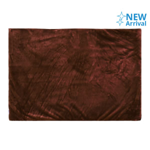 GLERRY HOME DECOR KARPET BULU SQUARE CHOCOLATE 100X150 CM