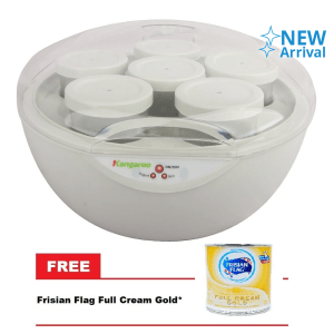 KANGAROO KG-80 YOGURT MAKER FREE 1PCS FRISIAN FLAG FULL CREAM