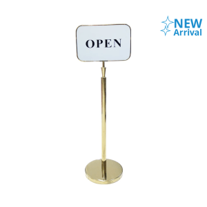KRISBOW SIGN STAND OPEN - GOLD