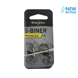 NITE IZE S-BINER MICROLOCK KARABINER METAL 2 PCS