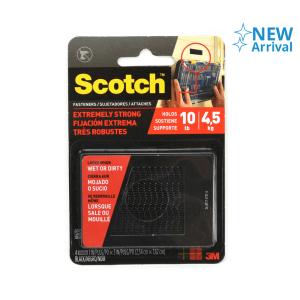 3M SCOTCH EXTREME FASTENER PENGIKAT VELCRO 2,5x7,6 cm - HITAM