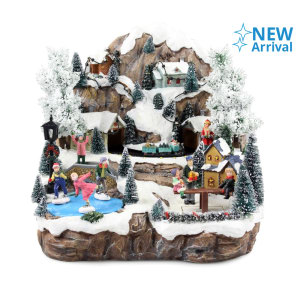 NOELLE XMAS MINI HOUSE VILLAGE DENGAN MUSIC 27 CM Y17