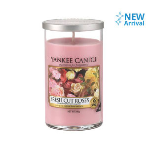 YANKEE FRESH CUT ROSE CANDLE PILLAR 340 GR