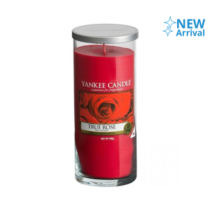 YANKEE TRUE ROSE CANDLE PILLAR 566 GR