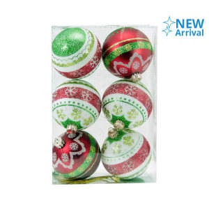 NOELLE HIASAN NATAL XMAS PAINTED BALL 6 CM 6 PCS