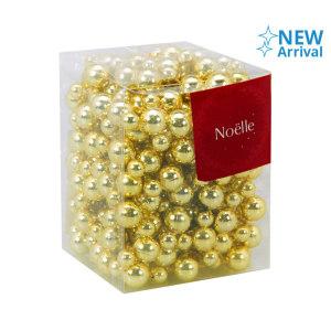 NOELLE BEAD GARLAND 12MMX5M - GOLD
