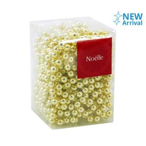 NOELLE BEAD GARLAND 8MMX10M - GOLD