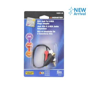 MONSTER KABEL AUDIO RCA PLUG FEMALE TO MALE(2) 15 CM