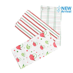 SET LAP DAPUR STRAWBERRY KATTLE 45X65 CM 3 PCS
