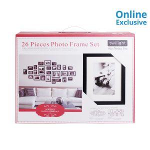 SET BINGKAI FOTO 26 PCS - HITAM