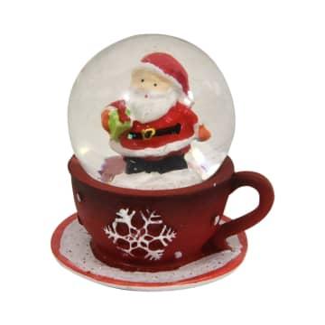 jual noelle miniatur dekorasi tea cup water globe terbaru