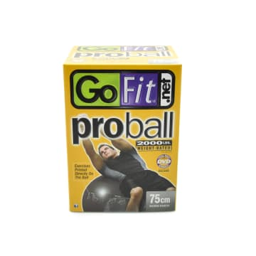 GO FIT PROBALL BOLA FITNESS 75 CM GF-75PRO - SILVER_1