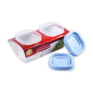 RUBBERMAID TEMPAT MAKAN SQUARE 118ML - BIRU_3