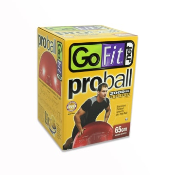GO FIT PROBALL BOLA FITNESS 65 CM - MERAH_1
