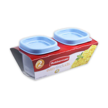 RUBBERMAID TEMPAT MAKAN SQUARE 118ML - BIRU_2