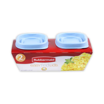 RUBBERMAID TEMPAT MAKAN SQUARE 118ML - BIRU_1