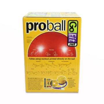 GO FIT PROBALL BOLA FITNESS 65 CM - MERAH_3