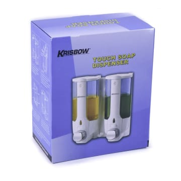 KRISBOW SET DISPENSER SABUN CAIR 380 ML 2 PCS - PUTIH_3