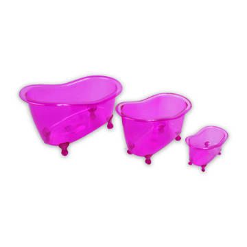 SET TEMPAT PENYIMPANAN MINI BATHTUB 3 PCS - PINK_2
