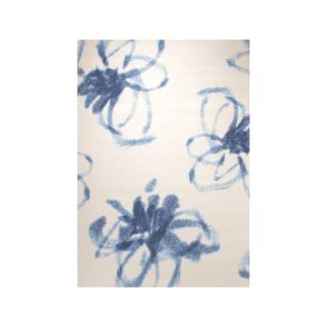 ESPRIT KARPET 115X170 CM MOTIF GRAPHIC FLOWER - PUTIH_1