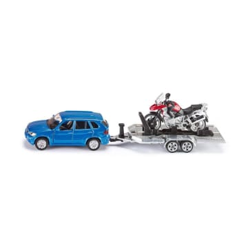 SIKU DIECAST CAR WITH TRAILER MOTORBIKE_1