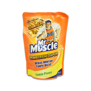 MR MUSCLE CAIRAN PEMBERSIH DAPUR LEMON POWER 400ML_1