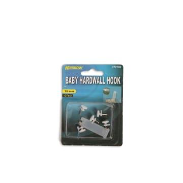 KRISBOW BABY HARDWALL HOOK 10 MM 5 PCS - PUTIH_1