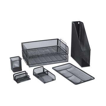 SET ORGANIZER STAINLESS STEEL 7 PCS - HITAM_1