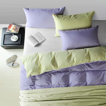 LINOTELA TWO TONE DUVET COVER KING BED - TEAL YELLOW_1